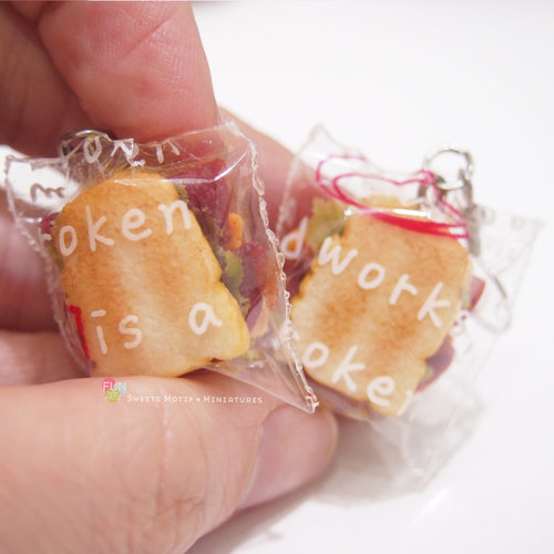 Jewelry-Clay Bread Sandwich Dangle Earrings