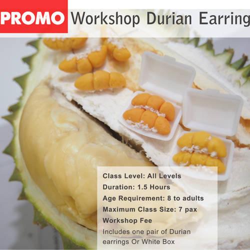 Workshop-Miniature Clay Durian or Earrings