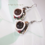clay food-miniature food-Coffee Cup Earrings