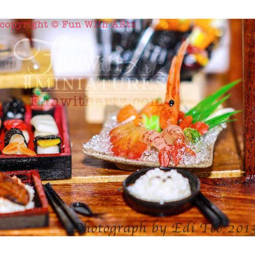 Miniature Food - Sushi Make Plate / Sashimi Platter