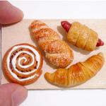 Miniature Bread on wooden Board