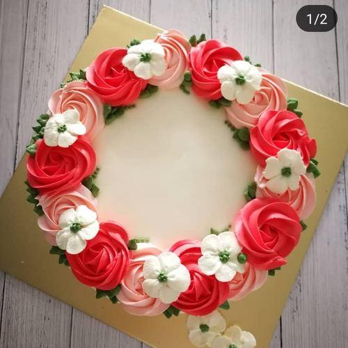 Cake Order - Buttercream floral Cake 1 kg