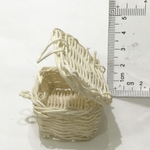 Dollhouse Wicker Baskets with Cover