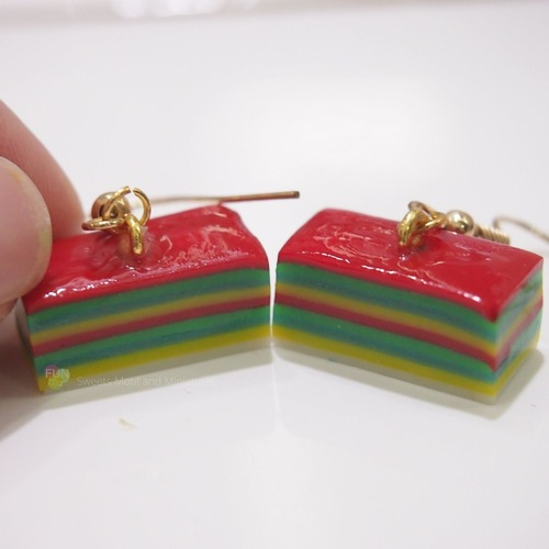 Jewelry - Rainbow Cake-Kueh Lapis Dangle Earrings