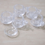 Miniatures - 10 Plastic Coffee Cup set for Dollhouse Display