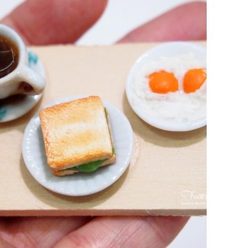 Miniature Nanyang Coffee and Kaya Toast Set