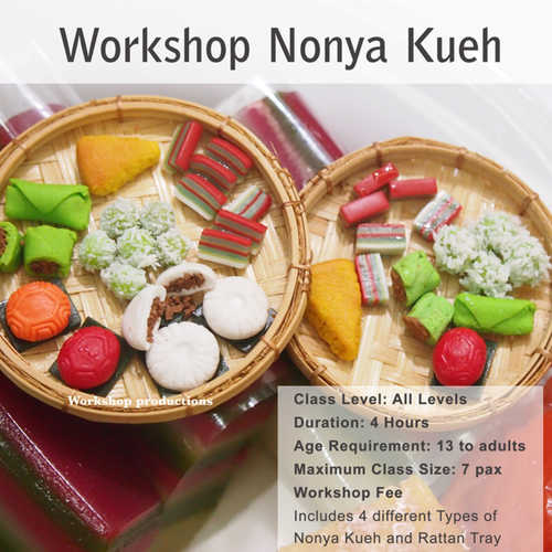 Workshop - Miniature Nonya Kueh - 4 pieces Kueh