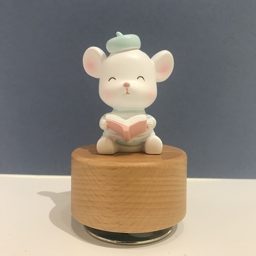Hardworking Rat Music Box wooden base