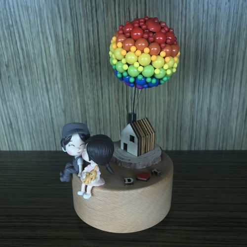 Rainbow Balloon House Couple