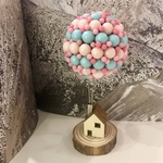 Soothing Pink Blue Balloon House
