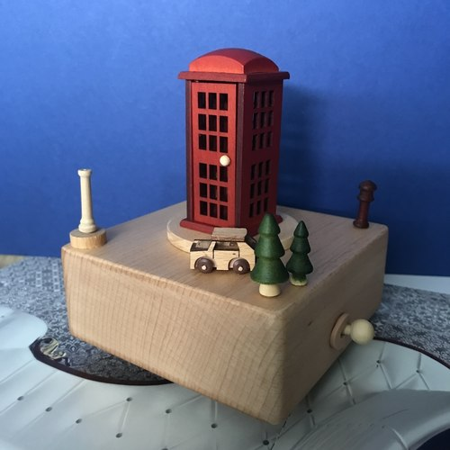London Telephone Booth Music Box