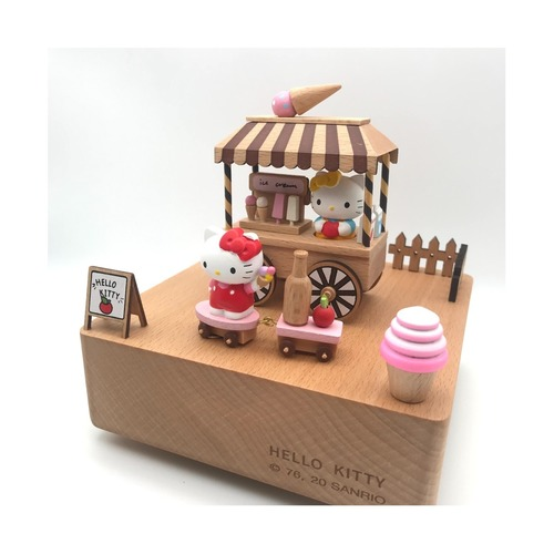 Hello Kitty Ice Cream Cart Music Box