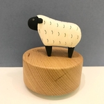 Wooden Polepole Sheep Music Box