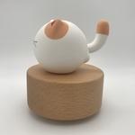 Big Tail Porcelain Cat Music Box Little Moon