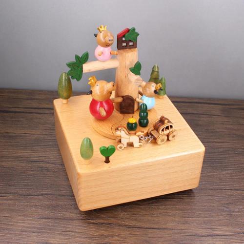 Pig Tree House Music Box