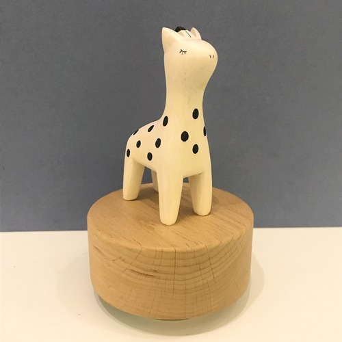 Wooden Polepole Giraffe Music Box