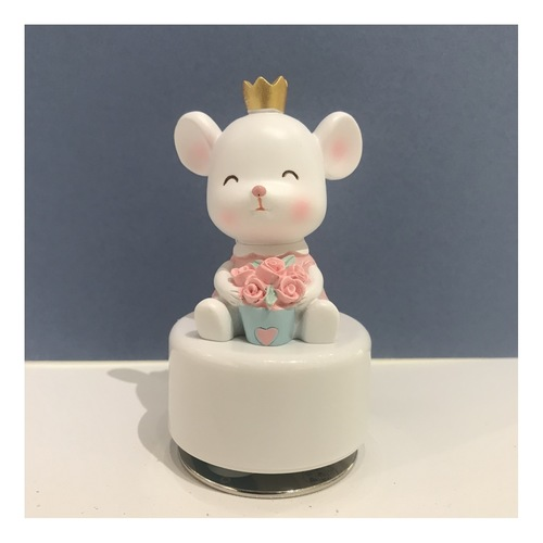 Rose and Crown Rat Music Box