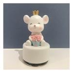 Rose and Crown Rat Music Box