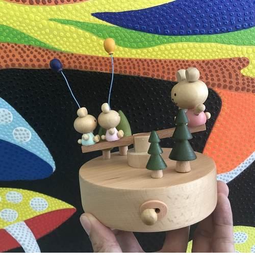 Bear Seasaw Music Box