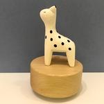 Wooden Polepole Giraffe Music Box