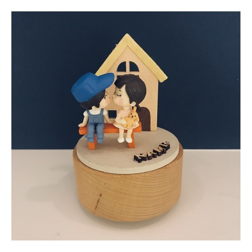 Couple and House Music Box