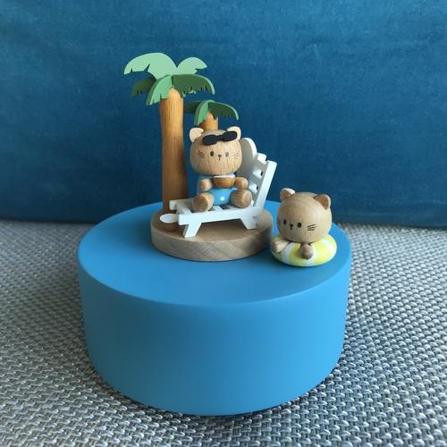 Swimming Cat Music Box