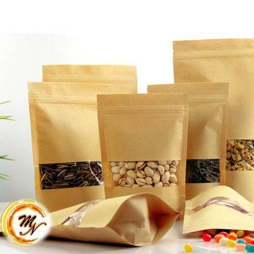 Peanuts in Kraft Ziplock Bags