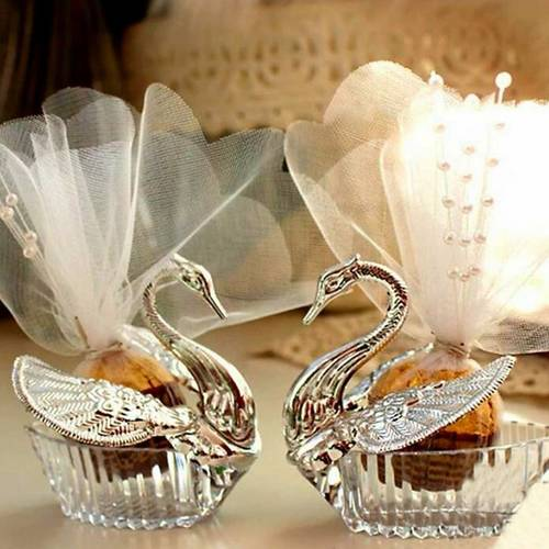 Elegant Swan Candy Container