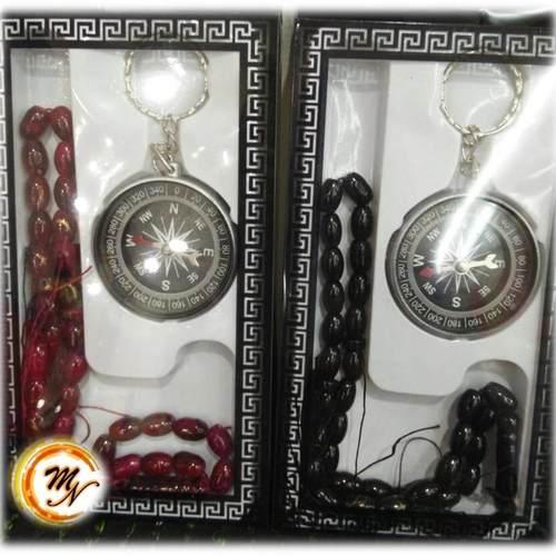 Tasbih with Qibla Compass Set