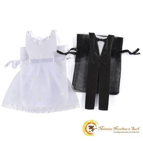 Bride & Groom Organza Bag