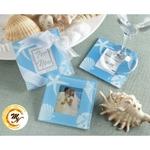 Seashell Glass Coaster Set