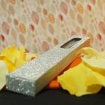Flabelium Hand Fan in Silver/Gold Box