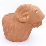 Terracotta clay pot - Goat