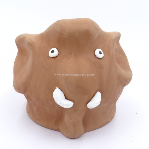 Terracotta clay pot - Elephant