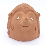 Terracotta clay pot - Hedgehog