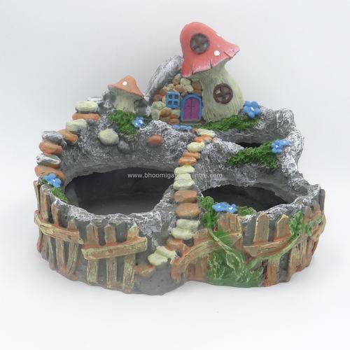 Fairy garden with mushroom on top