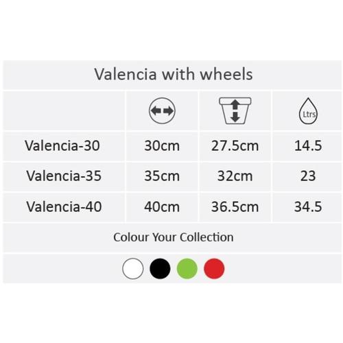 Valencia with wheels - 35 cm