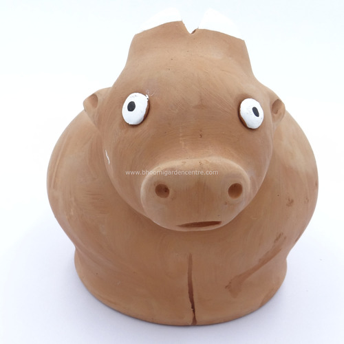 Terracotta clay pot - Cow