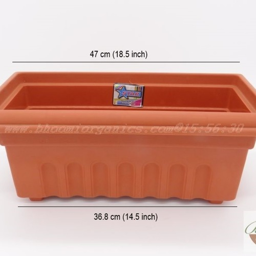 Square Terracotta Plastic pot (16 inch)