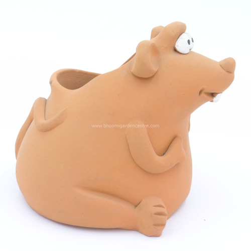 Terracotta clay pot - Mouse