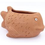 Terracotta clay pot - Fish