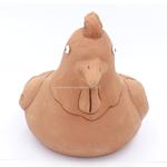 Terracotta clay pot - Hen