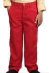 Boy's Cord Pants Red