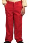 Boy's Cord Pants Red