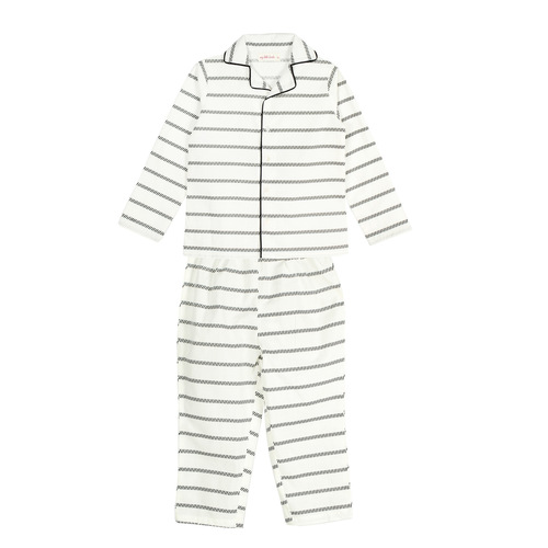 Black Stripes Night Suit for Boys