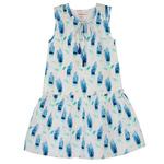 Mary Tulip Dress Blue