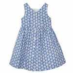 Girl's Blue Geo Dress