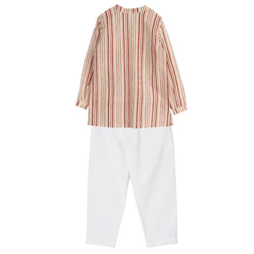 Striped kurta PJ set Rust