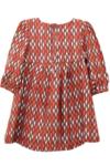 Argyle Bow Dress Brown