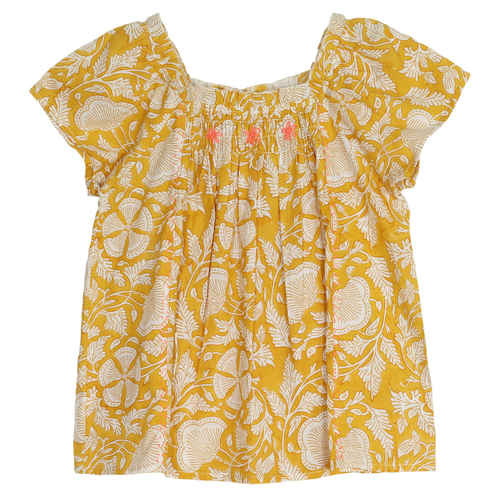 Sonia Girls Top Mustard